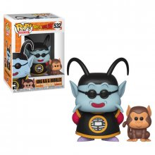 Dragonball Z POP! Animation Vinylová Figurka King Kai & Bubbles