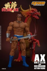 Golden Axe Akční figurka 1/12 Ax Battler & Red Dragon 18 cm
