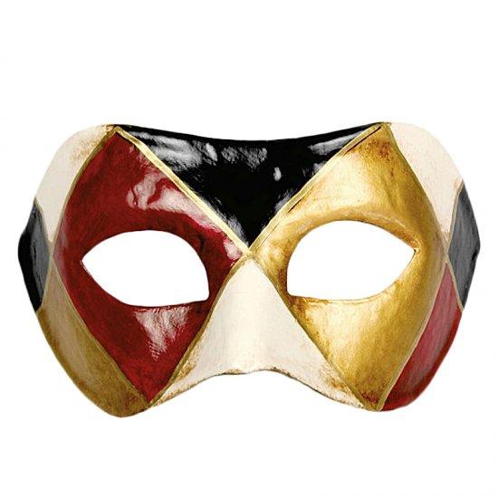Karnevalová maska Colombina Arlecchino Classico