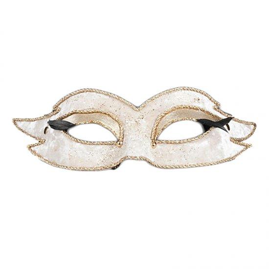 Karnevalová maska Colombina Veluto Mezzo Bianco