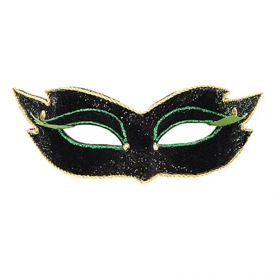 Karnevalová maska Colombina Veluto Mezzo Nero