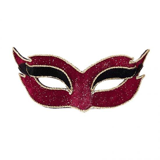 Karnevalová maska Colombina Veluto Mezzo Rosso