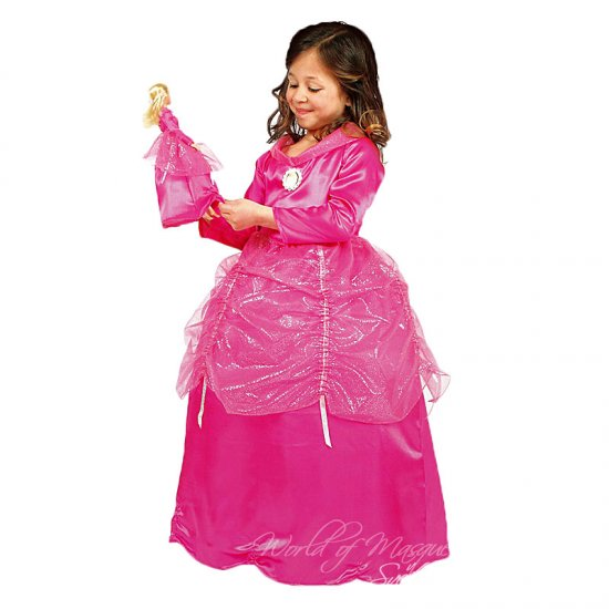 Dětský kostým Barbie plus šaty na panenku