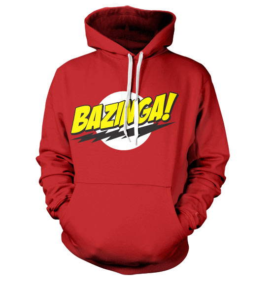The Big Bang Theory hoodie mikina Bazinga Super Logo